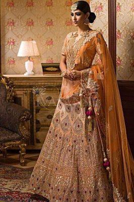 Wedding Lehenga for Rectangular Body