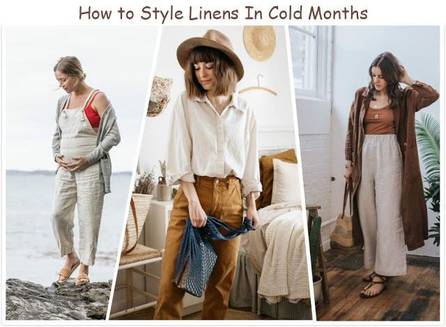 How to Style Linen Outfits In Cold Months