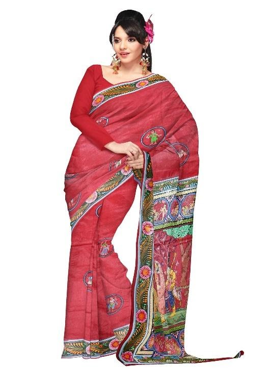 silk and cotton saree