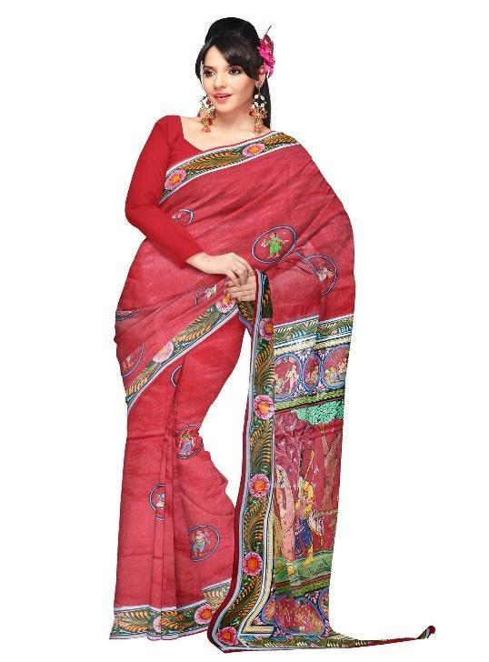 silk and cotton saree